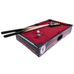 Liverpool FC 20 inch 8 Ball Pool Table Inc Balls Cues Chalk Rack Official Item