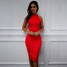 Ladies Sexy Sheath Mini Dress Sleeveless Night Club Wear Bodycon Dresses Y2