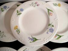 """7 Pfaltzgraff Laralynn Salad Plates   8 1/8""""  Pastel Flowers"""