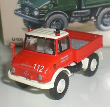 BUB 05780 CAMION MERCEDES BENZ UNIMOG U400 POMPIER LIMITED EDITION 1:87 HO NEW