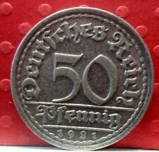 Germany: 1921 F 50 Pfennig Weimar Republic KM# 27 A-976