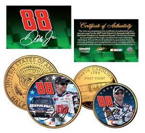 DALE EARNHARDT, JR. #88 NASCAR 24K Gold U.S Legal Tender 2-Coin Set *Licensed*