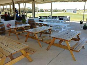 Pine Picnic Tables Family Garden Park Bench
