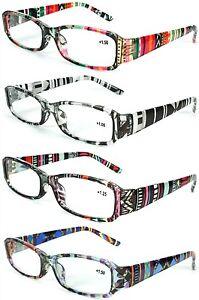 Womens Multicolor Aztec Tie Dye Burnout Style Fashion Readers Reading Glasses