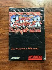 Super Street Fighter II 2 SNES Super Nintendo Instruction Manual Only
