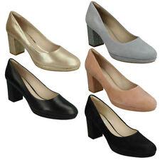Block Heel Suede Business Patternless Heels for Women