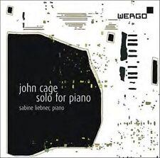 JOHN CAGE / SABINE LIEBNER Solo For Piano CD NEW Wergo WER 6768 2