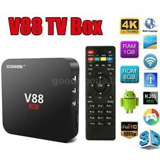 V88 Smart Android 6.0 TV Box RK3229 Quad Core UHD 4K 1G 8G WiFi HD H.265 Médias