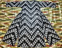 SALE!!! Uzbek Vintage National Ikat Cotton Robe Dress chapan Caftan