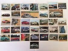LOTE 36 CROMOS ADHESIVOS PANINI COLECCIÓN AUTO CARS AUTOMOBIL AUTOMOBILE