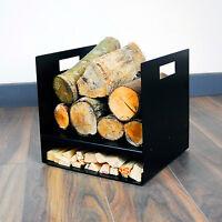 Modern Square Premium Firewood Log Basket - Wood Buring Stove Fire Kindling UK