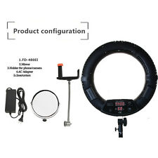 Yidoblo FD-480II Bi-color Continuous Soft LED Dimmable Ring Light fr Studio Film