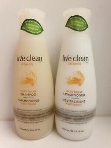 Live Clean Vitamin Multi Boost Shampoo & Conditioner 350ml