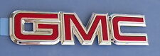 GMC TRUCK SUV SCRIPT NEW EMBLEM RED/CHROME REAR BADGE SIERRA SAFARI JIMMY S15