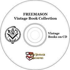 Freemason, Masonic, Freemasonry, Illuminati Rare Book Collection on CD
