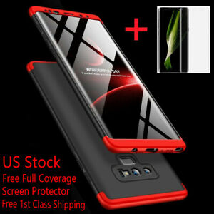 For Samsung Galaxy Note 20/10/9/8/S10/S9/S8 Plus S20 Ultra Shockproof 360° Case