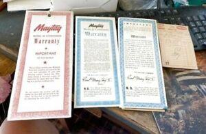 Vintage Maytag Model J2 Commander Washing Machine Warranty Instruction Booklet