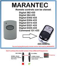 Marantec D321 433 Control Remoto Universal Duplicador 433.92MHz.
