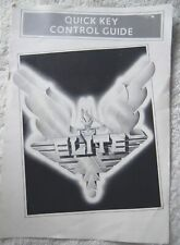 72629 Instruction Booklet - Elite Quick Key Control Guide - Atari ST ()