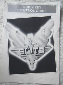 72629 Instruction Booklet - Elite Quick Key Control Guide - Atari ST ()