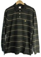 Brooks Brothers 346 Long Sleeve Polo Shirt Men's Size Large Rugby Green Striped