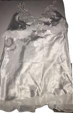 linea donatella Slip Chemise White Large Pajamas Gown Wedding Beaded Lace