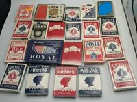 20+ VINTAGE PLAYING CARD DECKS MOHAWK ROYAL PLASTIC WASHABLE DOT PAULSON BICYCLE