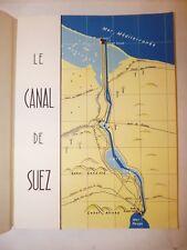 NAVIGAZIONE CANALE SUEZ 1956 Opuscolo Francese Illustrato Storia Politica Guerra