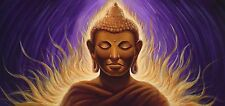 Buddha painting Zen artwork Buddha statue Stretched Canvas Giclee Print
