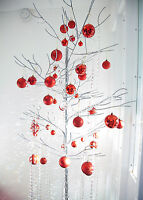 CRYSTAL TREES METAL IN 3FT - 4FT OR 5FT - 7FT CREAM/SILVER (1006)