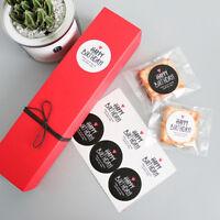 80pcs Black White Circular HAPPY BIRTHDAY Adhesive Baking Gift Label Stickers