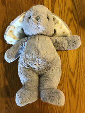 Cloud B Grey Bunny Rabbit Plush white with gold stars  (13.5 in)  Gently Loved