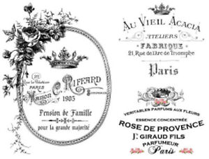 Vintage French Advertising Labels Furniture Transfers Waterslide Decals MIS590