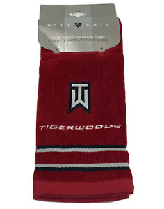 NEW Nike Golf Tour Performance Tiger Woods Collection Jacquard Towel