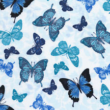 BUTTERFLY GROTTO – Timeless Treasures – BLUE – FABRIC FQ