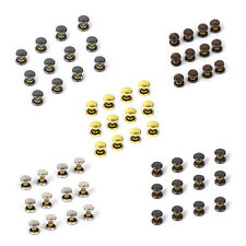 Approx.50pcs Round DOUBLE CAP Copper Rivets Studs 6x7mm For Jeans Pants Clothing