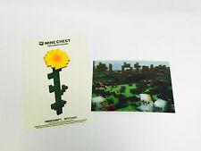 MINECRAFT Lenticular Card and Flower Sticker Set PLAINS Loot Crate Mine Chest