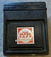 Vintage Doran Premier Paper Safe 8.5x11 Broken Clip - Otherwise Fine - No Cracks