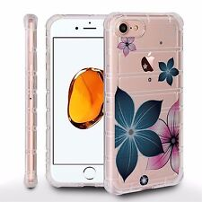 Air Cushion Shield For Apple iPhone 7 Plus Crystal Clear Case FLOWERS