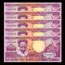 Lot 5 PCS, Suriname 100 Gulden, 1986, P-133a, UNC