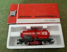 Jouef, ho,  wagon citerne nettoyeur de voies, ref 6495 B. En boite.