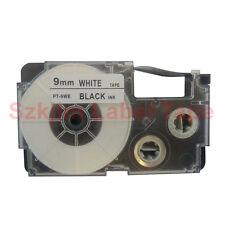 Compatible Casio XR-9WE Black on White 9mm 8m Label Tape KL430 KL820 XR-9WE1