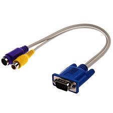 TV-out VGA a S-Video / Cavo adattatore RCA U5P5 W1Y4 X3O4
