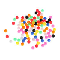 100x Multi-color Fishing Beads Lure Sea Fishing Line Beads Tackle Accessory