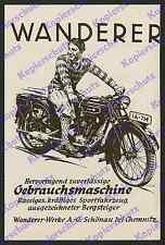 orig. Reklame Rene Ahrlé Motorrad Wanderer Sport Schönau Chemnitz Sachsen 1928