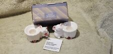 Avon Bunny Ceramic Taper Candle Holders Set of 2