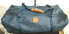 "Jon Hart Large 26"" Navy Blue Wax Canvas Duffel Travel Bag"