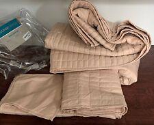 Comfort Spaces - Kienna Quilt Mini Set - 3 Piece - Blush - Stitched Quilt, King