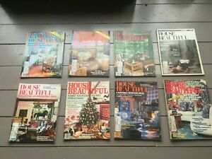 Vintage 1970's-1980's Lot of 8 HOUSE BEAUTIFUL MAGAZINES Decorating