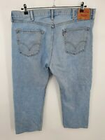 Levis Mens Blue 505 LIght Wash Regular Fit Straight Leg Denim Jeans Size 42x30